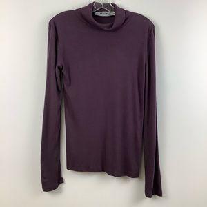 Contemporaine for Simons Turtleneck Sweater in Purple